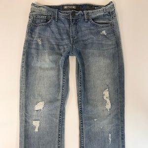 BKE Denim Mens Jeans SZ 34R CARTER Distressed